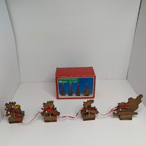 Other - Christmas Around The World Wood Santa And Reindeer